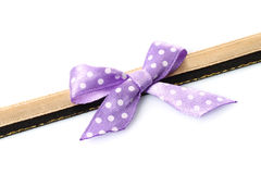 Big retro purple holiday bow Royalty Free Stock Images
