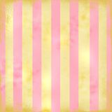 Big Retro Stripes in pink and Tan Stock Image