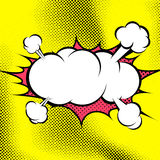Big retro style comic book explosion cloud template Royalty Free Stock Images