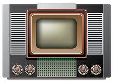 Big retro tv set Stock Photo