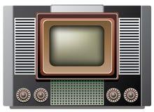 Big retro tv set Stock Photo