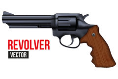 Big Revolver. Black gun metal Royalty Free Stock Image