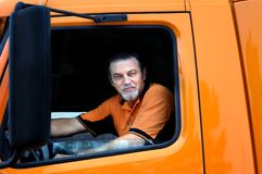 Big Rig Driver Stock Images