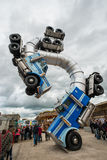 Big Rig Gig by Mike Ross at Banksys Dismaland Bemusement Park. Stock Images