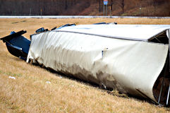 Big Rig Roll Over Stock Photography