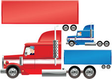 Big Rig and trailer Stock Photo