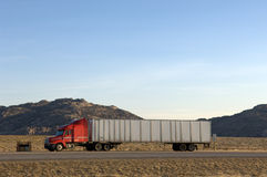 Big Rig Truck. Parked in the desert Royalty Free Stock Photography
