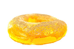 Big ring bagels. On a white background royalty free stock photo