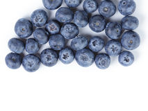 Big ripe blueberries from above Royalty Free Stock Image