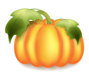 Big ripe pumpkin on Helouin Stock Photo