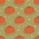 Big ripe pumpkin vector. Seamless pattern background pumpkin. Stock Image