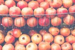 Big Ripe Red Garnets in a market.  Stock Photo