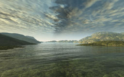 Big River. This image shows a evening ambiance in the highlands Royalty Free Stock Photography