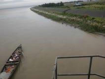 Big river in the Bangladesh shutting spot. The river in Bangladesh river name is & x22;jamuna& x22 royalty free stock photos