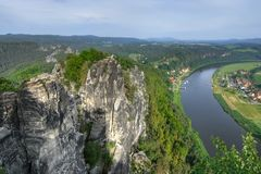 Big river (Elbe) Royalty Free Stock Images