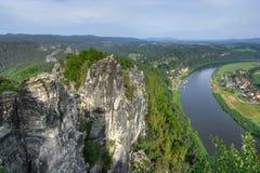 Big river (Elbe) Royalty Free Stock Images