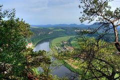 Big river (Elbe). Big River in a national Park in Germany stock photos