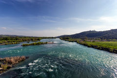 Big river in Greece Royalty Free Stock Images
