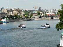 Big river in Moscow, embankment stock photography