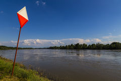 Big river with urban sign Stock Photos