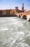 Big river in Verona Italy Royalty Free Stock Photography