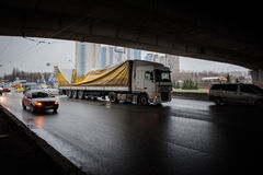 Big road accident in the outskirts of Kiev Stock Images