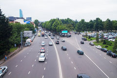 Big road with lots of cars Royalty Free Stock Photo