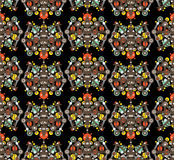 Big robots seamless pattern in black. Royalty Free Stock Photography