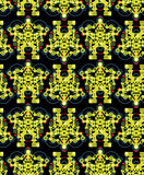 Big robots seamless pattern in green. Royalty Free Stock Images