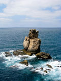 Big Rock. In the Portuguese coast near from the Peniche village Royalty Free Stock Image