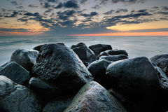 Big rock. By the sea Stock Images