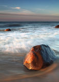 Big Rock on beach Stock Photos