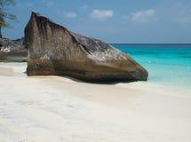 Big rock. The big rock on the beach , Similan islands Royalty Free Stock Image