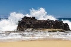 Free Big Rock Beach Splash 1 Stock Images - 30736304
