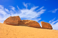 Big rock. Beautiful rock in the sand Royalty Free Stock Photo