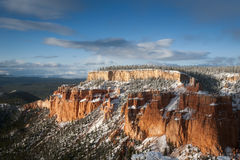 Big rock of bryce canyon after snow fall Stock Image