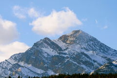 Big Rock, Canadian Rockies. Canadian Rocky Mountains give us feeling of real freedom, mostly untouched, wild and formed by power of nature Stock Photos