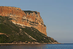 The big rock Cap Canaille in South France. The big rock Cap Canaille near Marseille in South France Royalty Free Stock Photography