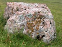 Big rock at the field Royalty Free Stock Photography