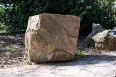 Big rock in garden Stock Photos