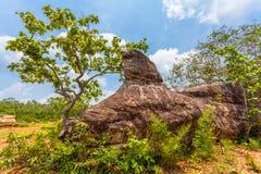 Big rock on the high mountain Stock Photos