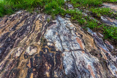 Big rock on the high mountain Royalty Free Stock Photos