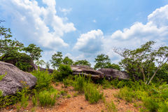 Big rock on the high mountain Royalty Free Stock Photography