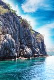 Big rock island, Moo Koh Chumphon, Chumohon province, Thailand., Ngam Yai Island Royalty Free Stock Image