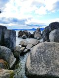 Boulders in the tahoe lake Royalty Free Stock Images
