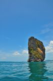 Big rock in the ocean Royalty Free Stock Photography