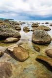 Big rock with ocean view Stock Photo