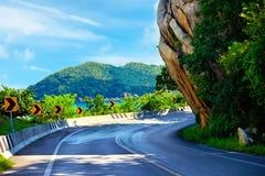 The Big Rock road at Hua Thanon, Samui Island, Thailand, local landmark Royalty Free Stock Image