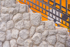 Big rock stone wall for home Stock Photo