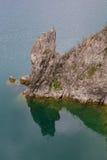 Big rock on Turano lake Stock Photo